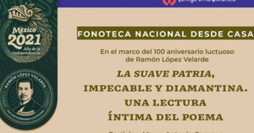 """Recordarán a Ramón López Velarde y su poema """"La suave patria"""" con lectura desde la Fonoteca Nacional"""