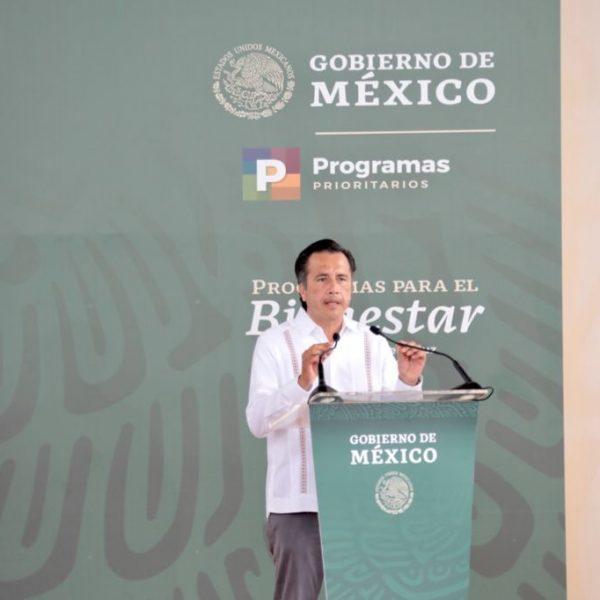 Veracruz aliado contra la desigualdad y la pobreza: Cuitláhuac García al Presidente