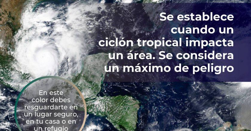 Emiten Alerta Roja en Veracruz por huracán Grace