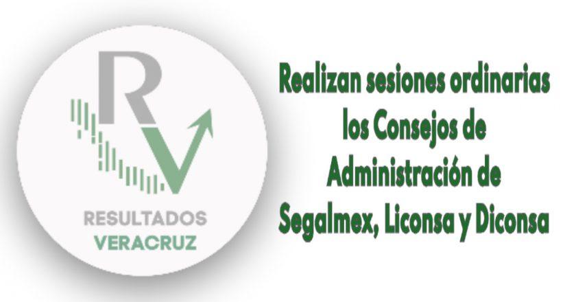 Realizan sesiones ordinarias los Consejos de Administración de Segalmex, Liconsa y Diconsa