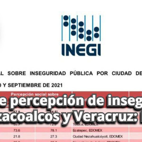 Disminuye percepción de inseguridad en Coatzacoalcos y Veracruz: INEGI