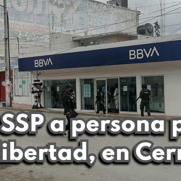 Libera SSP a persona privada de la libertad, en Cerro Azul